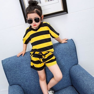 Striped Hoodies set for Boys - Yellow / 18-24 months