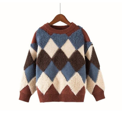 Stylish Cool Knitwear Sweater for Kids Unisex - Brown / 13-14 years / China