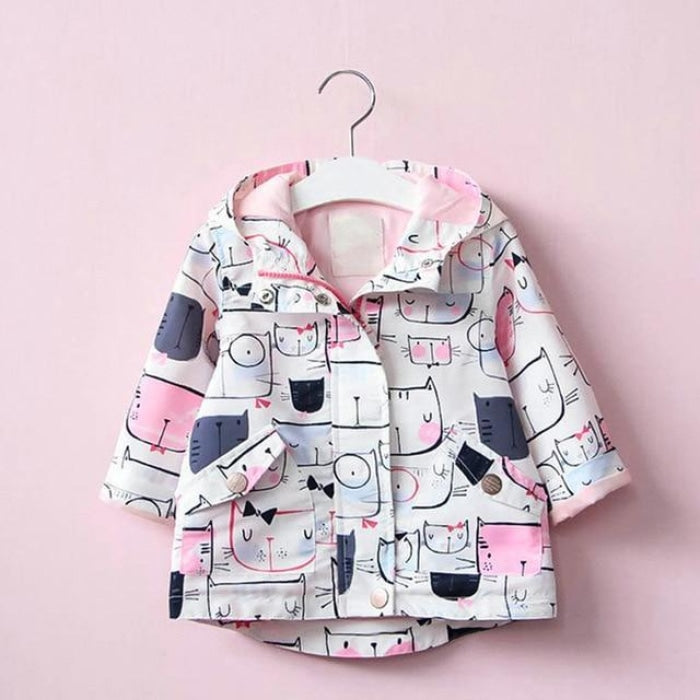 Stylish Printed Outerwear Jacket for Girls