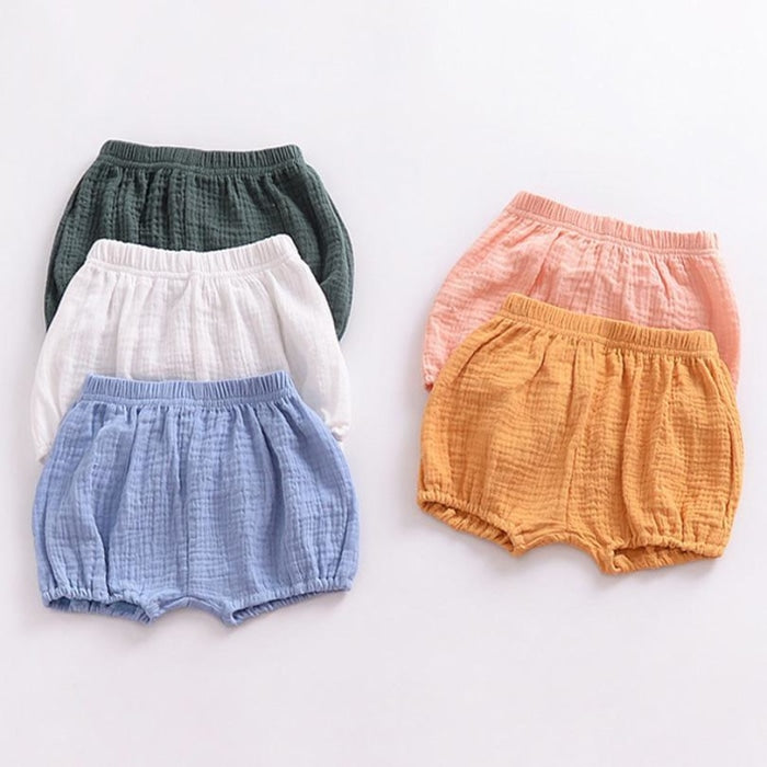 Summer Linen Cotton Comfortable Pants Shorts for Baby Girls