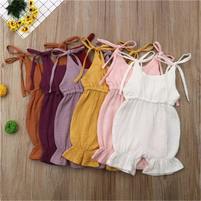 Summer Special Cotton Sleeveless Bodysuit for Baby Girl