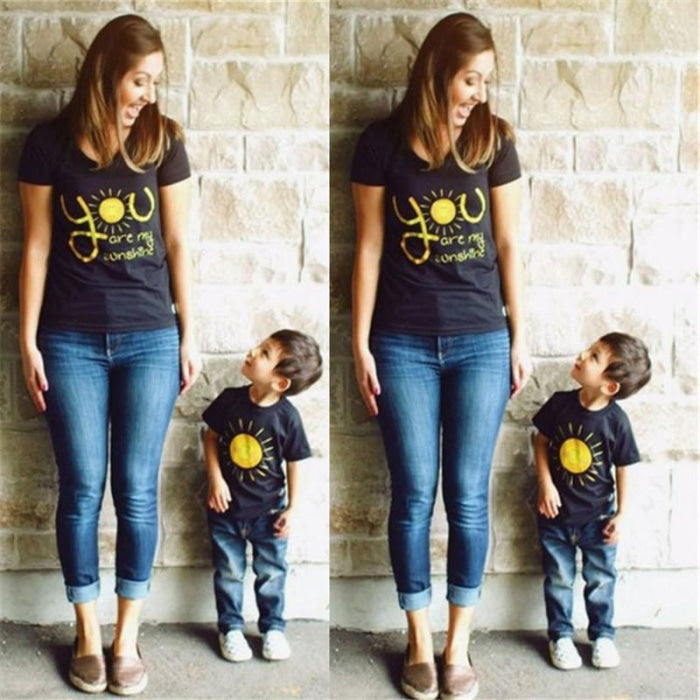 Sunshine Matching Tops for Mother and Son - As shown / Mom XL