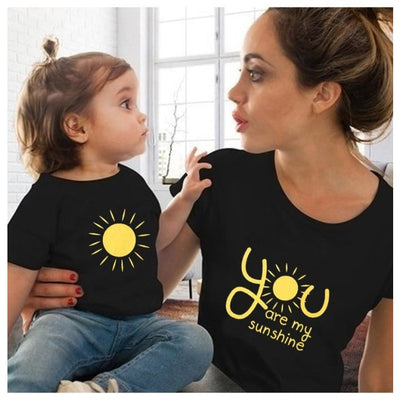 Sunshine Matching Tops for Mother and Son