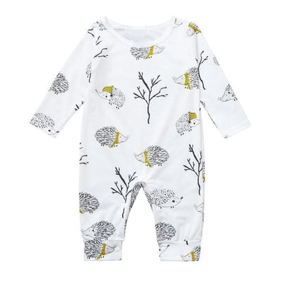 Super Cute Cartoon Romper for Baby Unisex - White / 3-6 months / United States