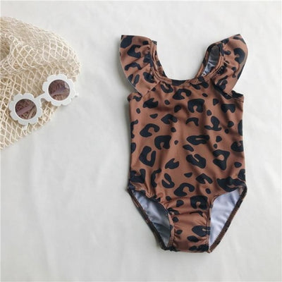 Super Cute Sleeveless Romper for Baby Girl - Brown / 9-12 months