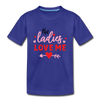 Toddler Boys Valentine T-Shirt Ladies Love - royal blue