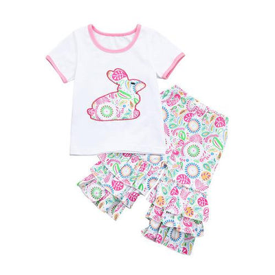 Toddler Girl Easter Dress Clothing Set - White / 9-12 months