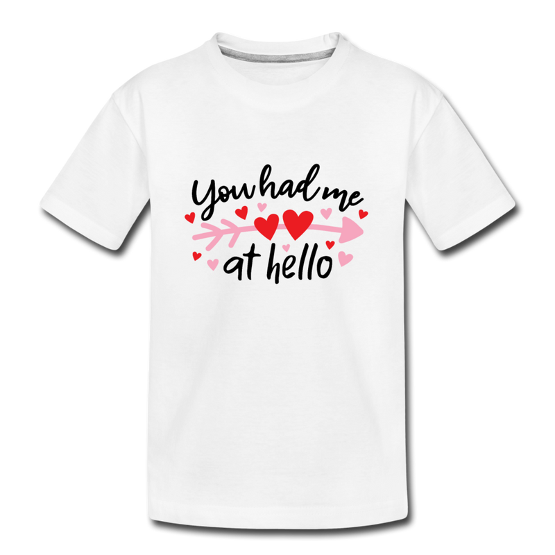 Toddler Kids Valentine T Shirt Heart Hello