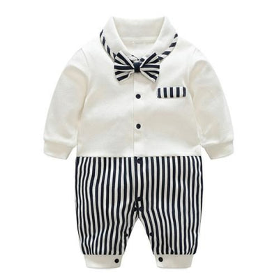 Trendy Party Striped Jumpsuit for Baby Boy