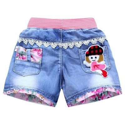 Trendy patchwork summer shorts for Girls - As per pic / 2-3 years