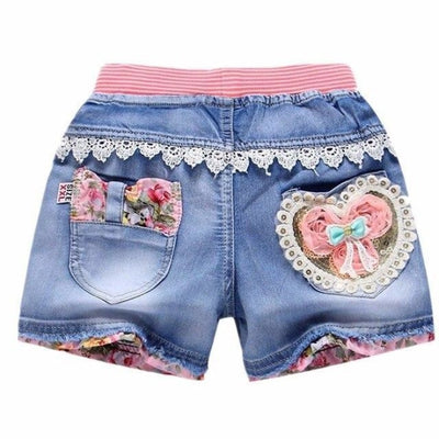 Trendy patchwork summer shorts for Girls - As picture 4 / 2-3 years