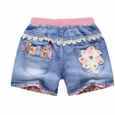 Trendy patchwork summer shorts for Girls - As picture 6 / 2-3 years