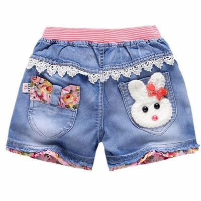 Trendy patchwork summer shorts for Girls - As picture 7 / 2-3 years