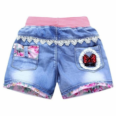 Trendy patchwork summer shorts for Girls
