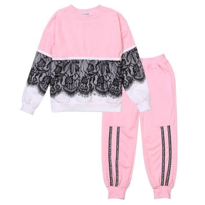 Trendy Pink 2 Pc Clothing Set for Girls - pink / 18-24 months