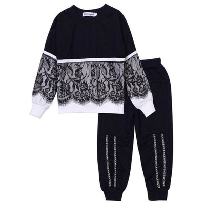 Trendy Pink 2 Pc Clothing Set for Girls - black / 18-24 months