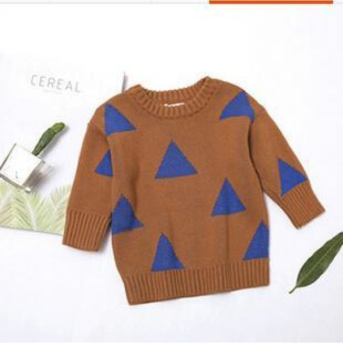 Triangle Print Elegant Unisex Sweater