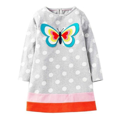 Unicorn Long Sleeve Dresses For Your Cute Little ones - Grey / 12-18 months