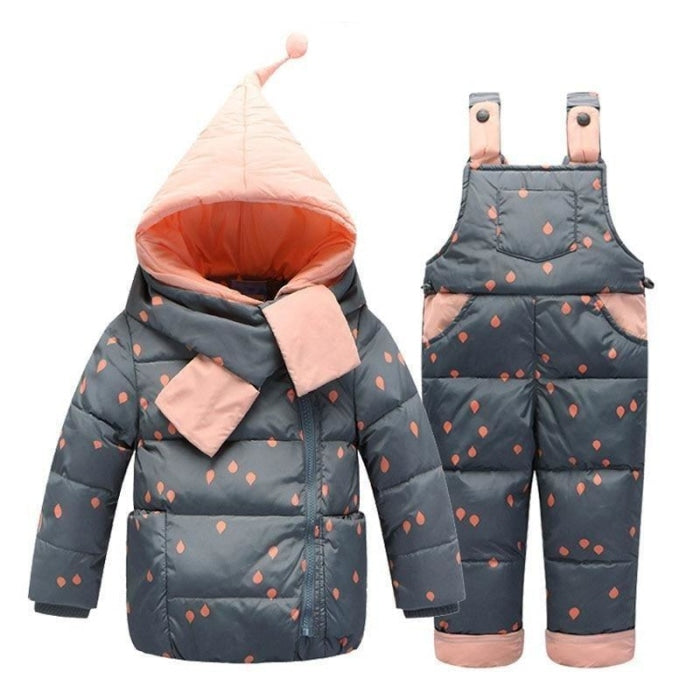 Unisex 2 Pc Winter Outerwear Hooded Bodysuit for Toddlers