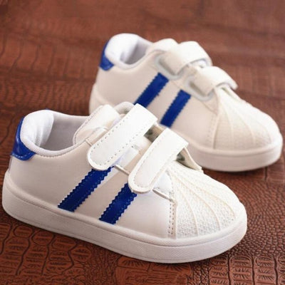 Unisex Baby Flat Sports Sneakers with Anti-Slip Sole - Blue / 11
