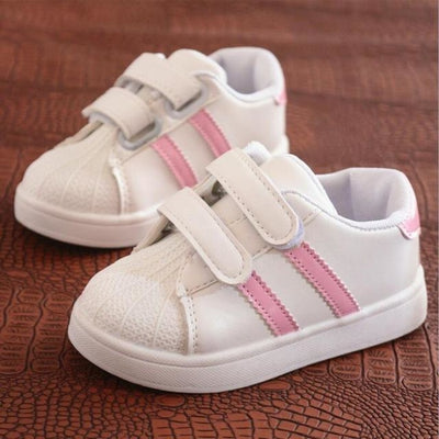 Unisex Baby Flat Sports Sneakers with Anti-Slip Sole - Pink / 11