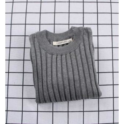 Unisex Candy color Knitted Sweater - Gray / 18-24 months