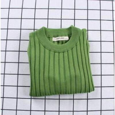 Unisex Candy color Knitted Sweater - Green / 18-24 months