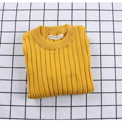 Unisex Candy color Ribbed Sweater