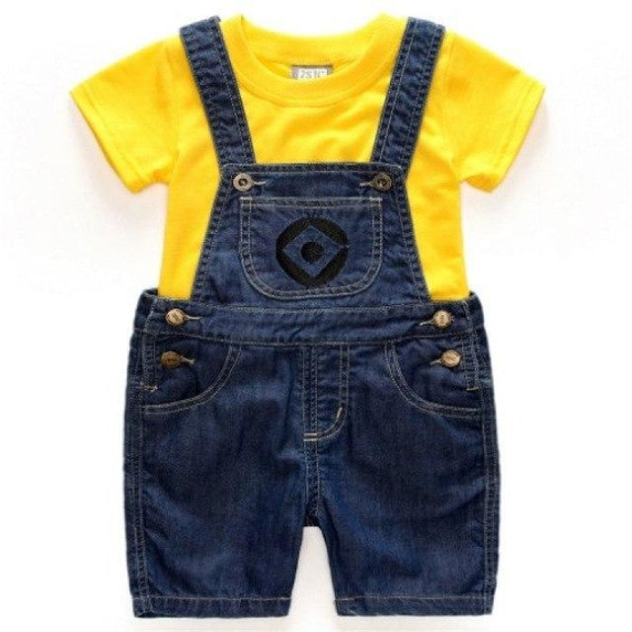 Unisex Cartoon Dungaree Clothing set