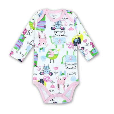 Unisex Cartoon pattern Bodysuit for Babies - As per pic / 9-12 months