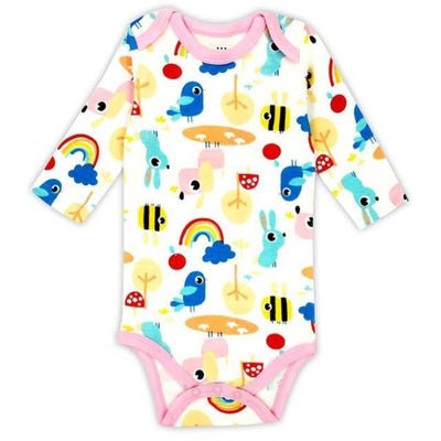 Unisex Cartoon pattern Bodysuit for Babies - Picture Color 1 / 9-12 months