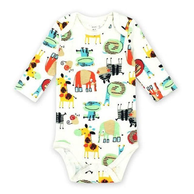 Unisex Cartoon pattern Bodysuit for Babies - Picture Color 3 / 9-12 months