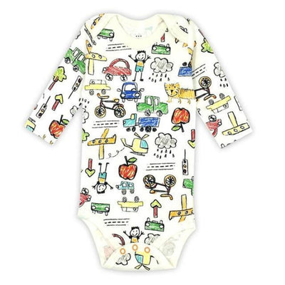 Unisex Cartoon pattern Bodysuit for Babies - Picture Color 4 / 9-12 months