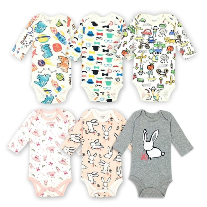 Unisex Cartoon pattern Bodysuit for Babies