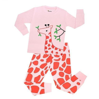 Unisex Casual Full Sleeve Cartoon Pajama Set - Pink / 18-24 months