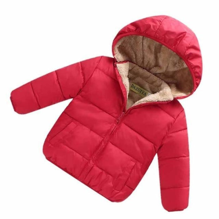Unisex Cotton Full Sleeve Hooded Jacket for Kids
