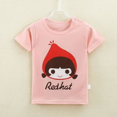 Unisex Easy Clean Cotton Fleece T-Shirt Top - Pale pink 2 / 2-3 years