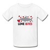 Unisex Kids T-shirt Shark Love Bites - white