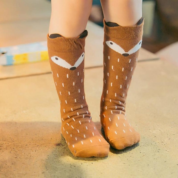 Unisex Knee High Cute Long Cotton socks