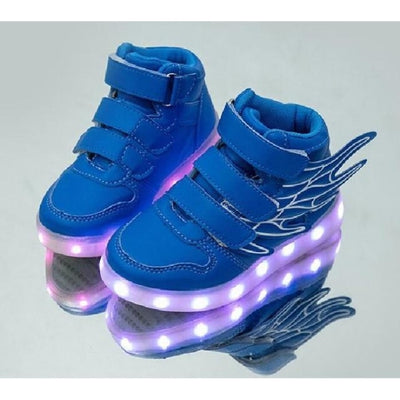 Unisex LED Light-Up Shoes with USB Charging - Blue / 9.5