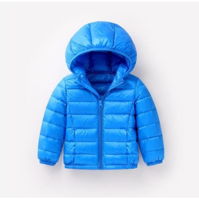 Unisex Long-sleeved Parka Jacket - blue / 18-24 months