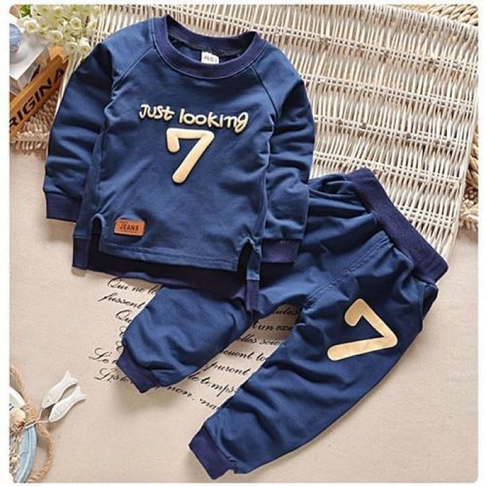 Unisex Long-sleeved Sweatshirt + Pant Clothing Set