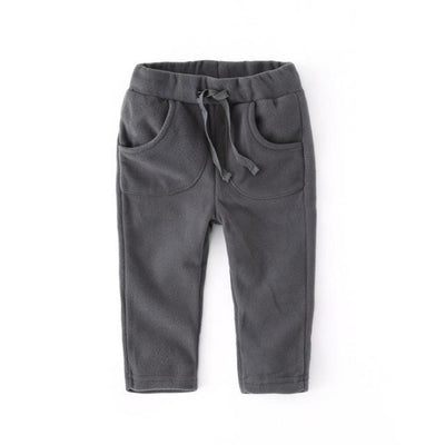 Unisex Polar Fleece pants for kids - Gray / 12-18 months