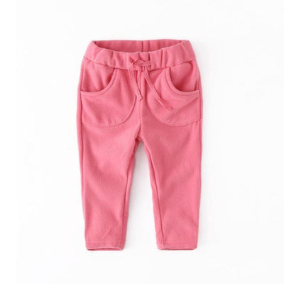 Unisex Polar Fleece pants for kids - Pink / 12-18 months