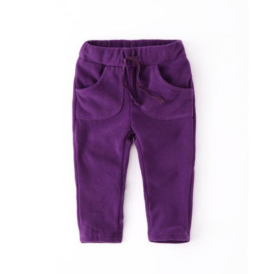 Unisex Polar Fleece pants for kids - Purple / 12-18 months