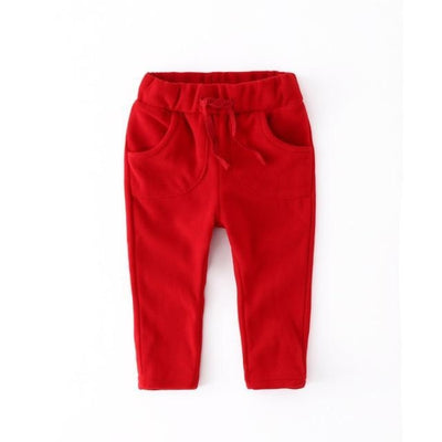 Unisex Polar Fleece pants for kids - Red / 12-18 months