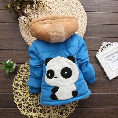 Unisex Stylish Winter Hooded jacket for Kids - Blue 3 / 9-12 months