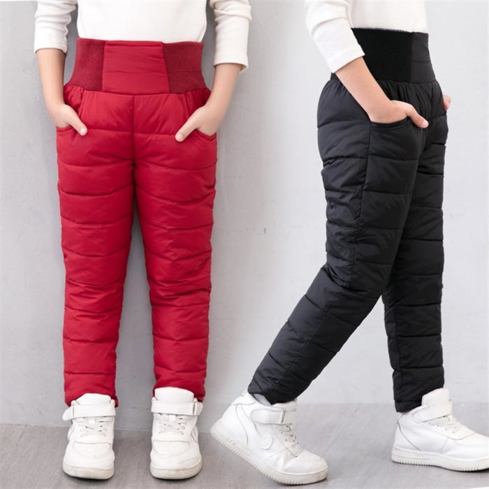Unisex Thick Padded Solid Winter trousers