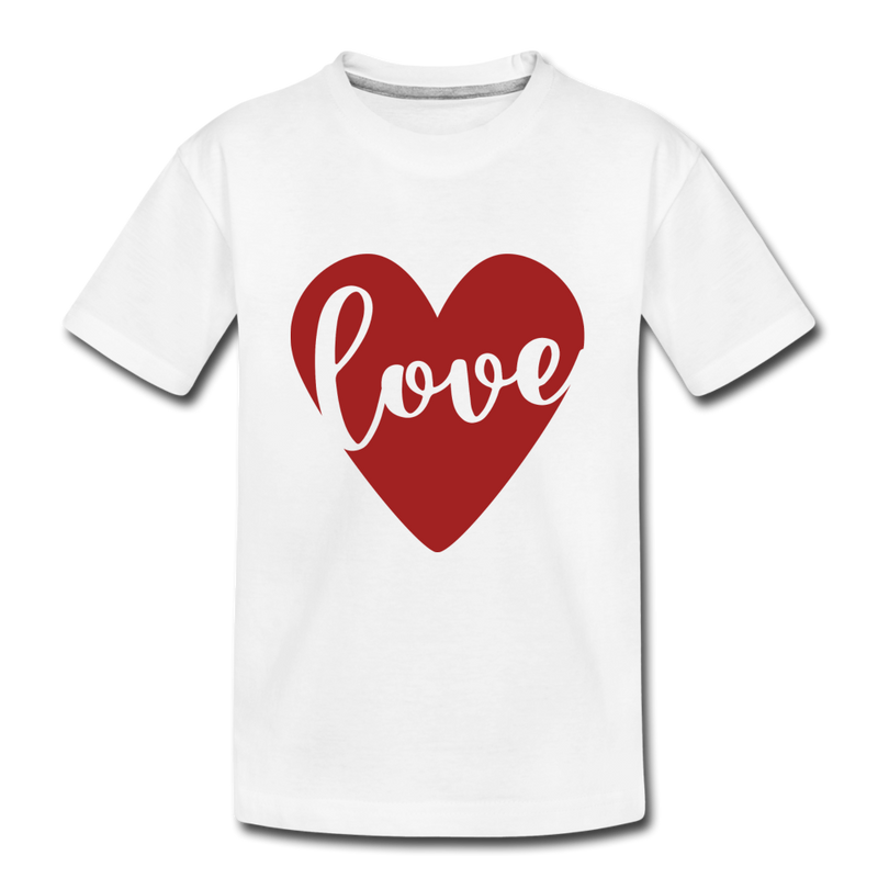 Valentine Matching T-shirt for Mother & Son with Heart Love - white