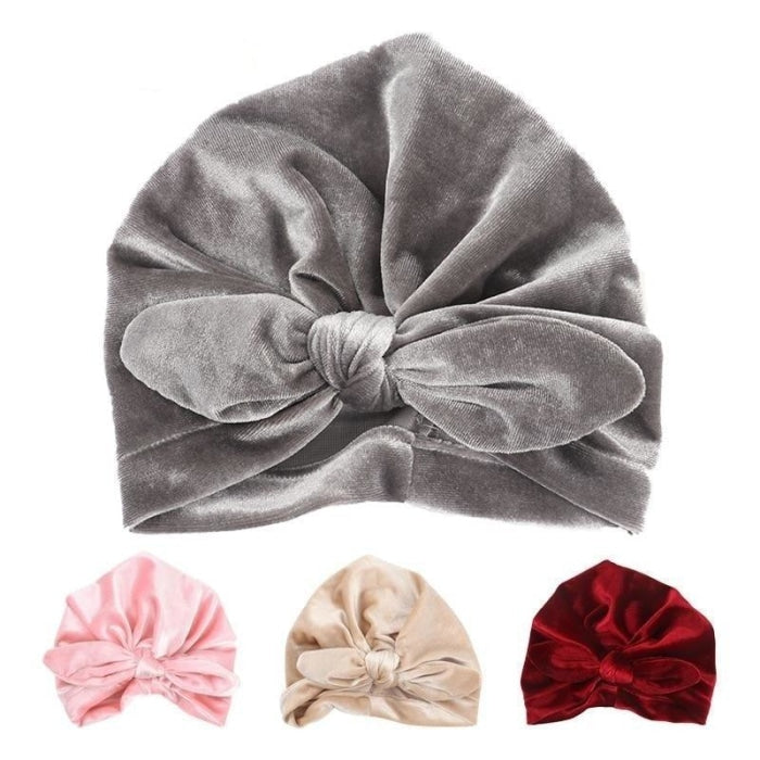 Velvet Unisex Baby Beanie Hat for Infants